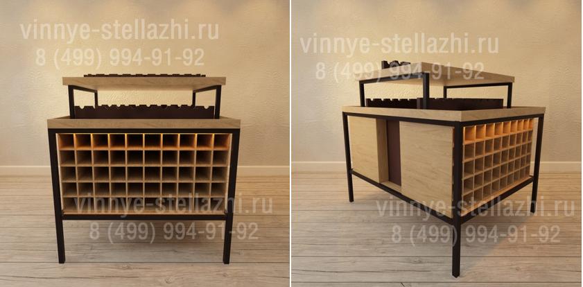готовый винный шкаф из дерева