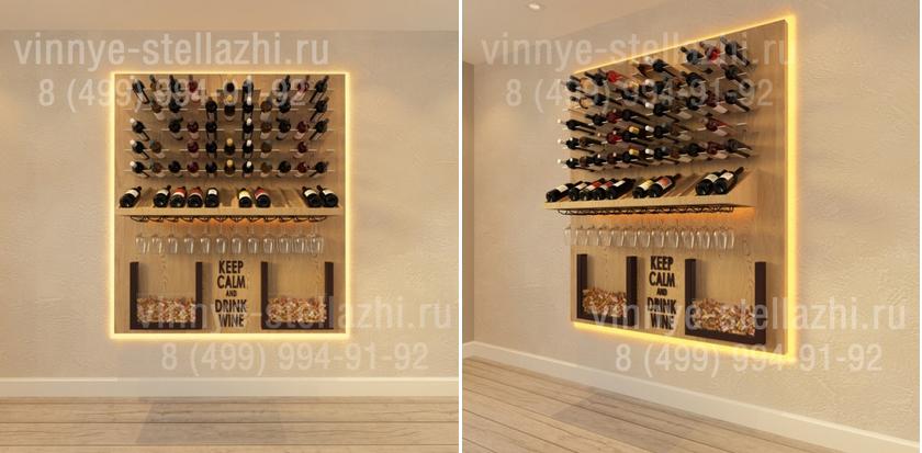 деревянный стеллаж для хранения вина