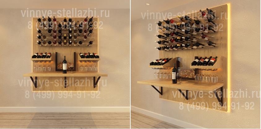 изготовление винных стеллажей на заказ