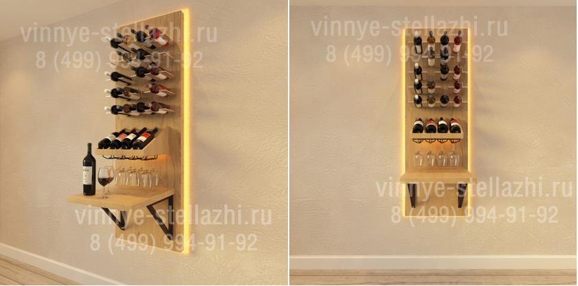 фото деревянного винного стеллажа