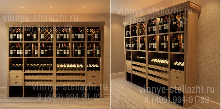 винные шкафы для хранения бутылок вина